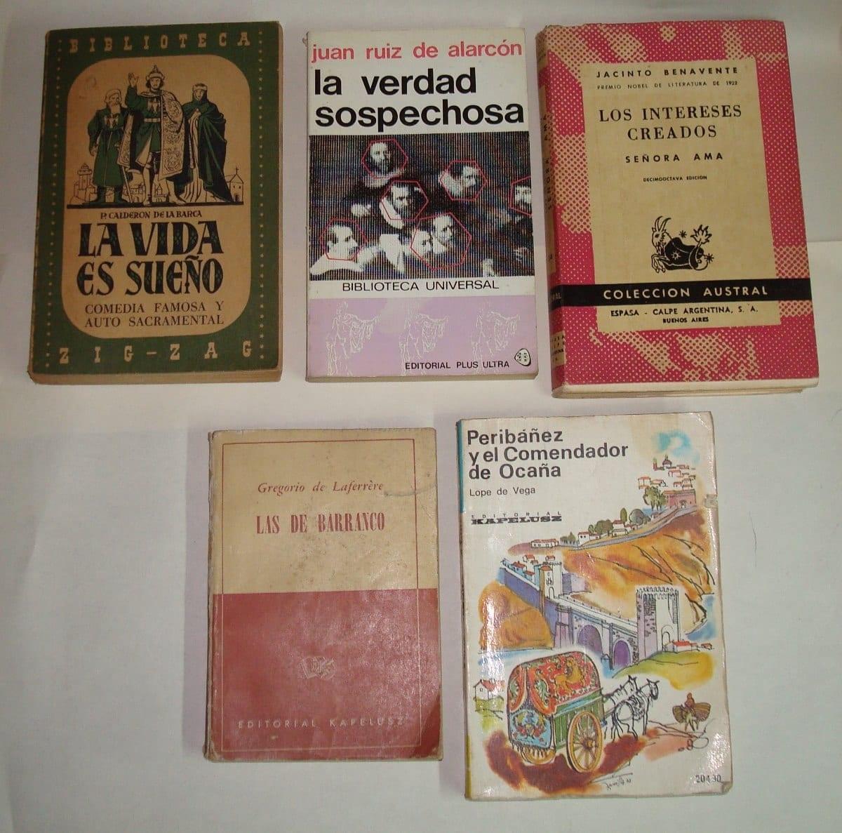 Varias obras de Lope de Vega.
