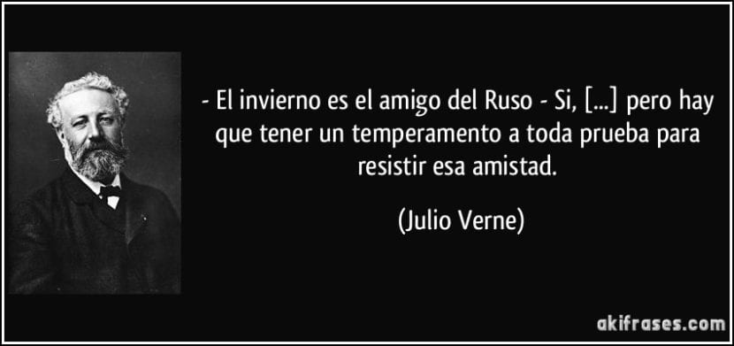 Una de las tantas frases celebres de Julio Verne.