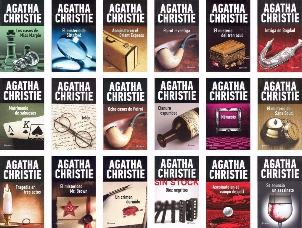 Libros de Agatha Christie.