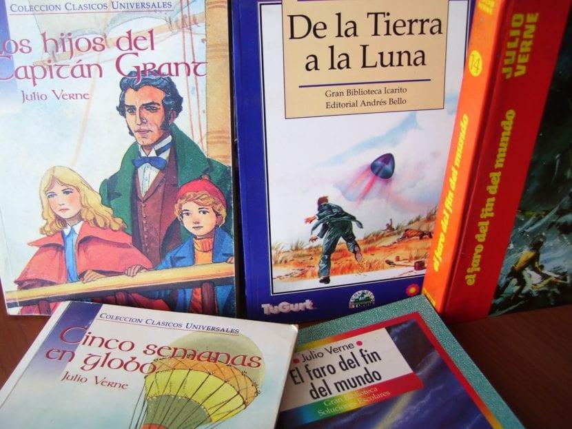 Libros de Julio Verne.