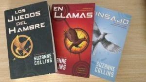 Libros de Los Juegos del Hambre.