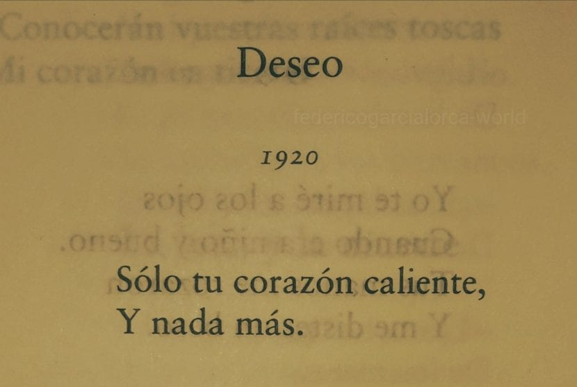 Poemas de Federico García Lorca.