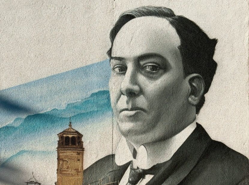 Retrato de Antonio Machado.