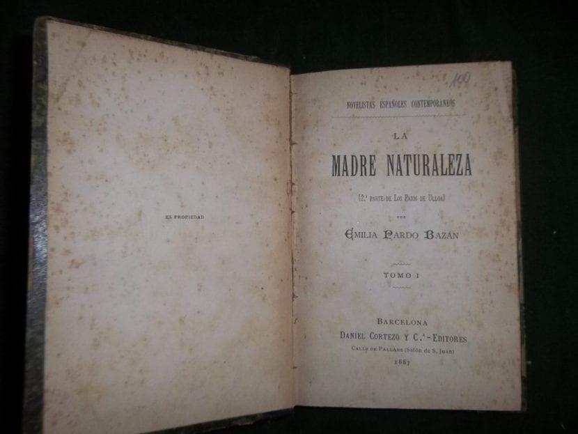Madre Naturaleza, libro de Emilia Pardo Bazán.