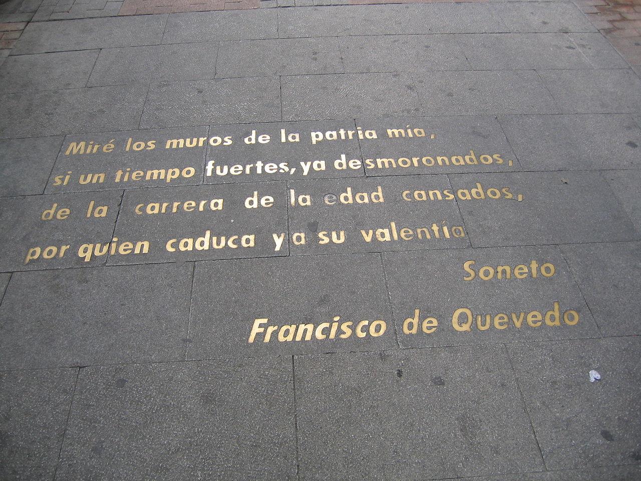 Los sonetos de Quevedo son muy famosos
