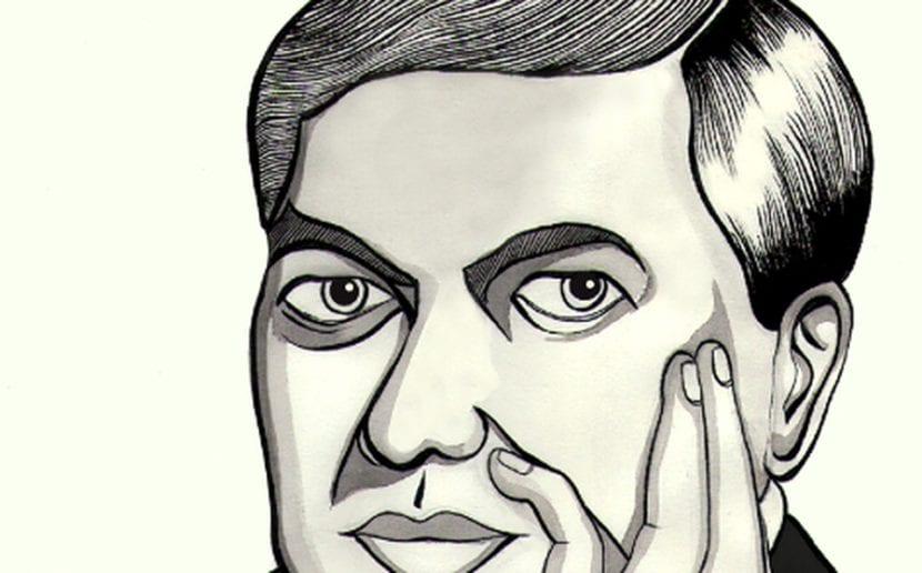 Dibujo de Rubén Darío.