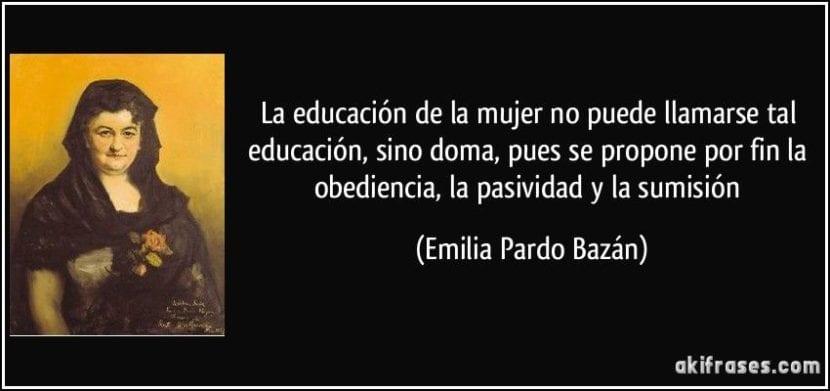 frase de Emilia Pardo Bazán.