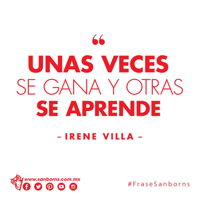 Frase de Irene Villa.