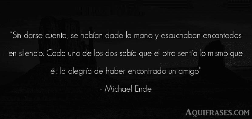 Frase de Michael Ende.