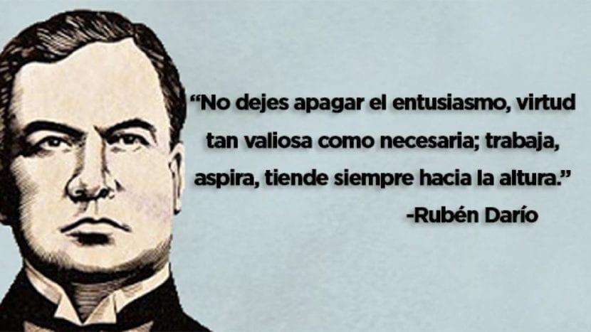 Frase de Rubén Darío.