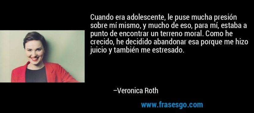 Frase de Verónica Roth.