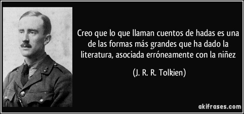 Frase de J. R. R. Tolkien.