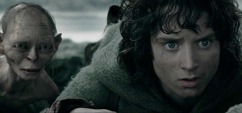 Frodo y Gollum en la versión cinematográfica del libro.