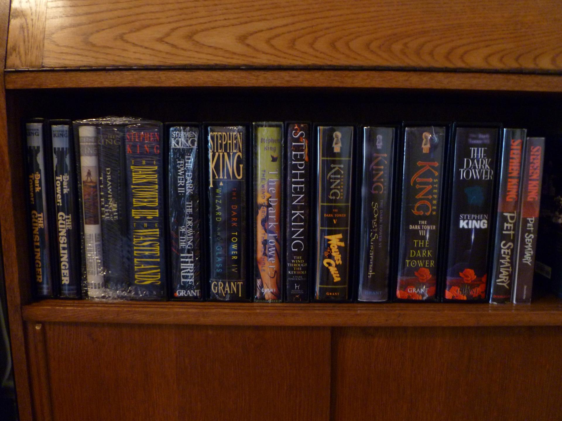 Colección de obras de Stephen King.