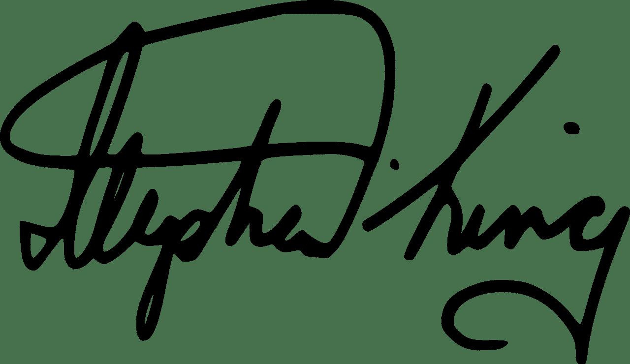 Firma de Stephen King.