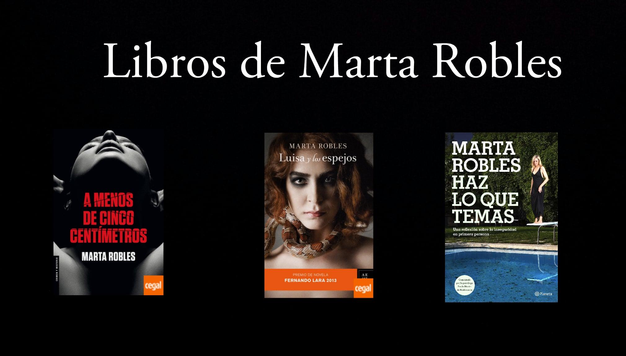 Libros de Marta Robles.