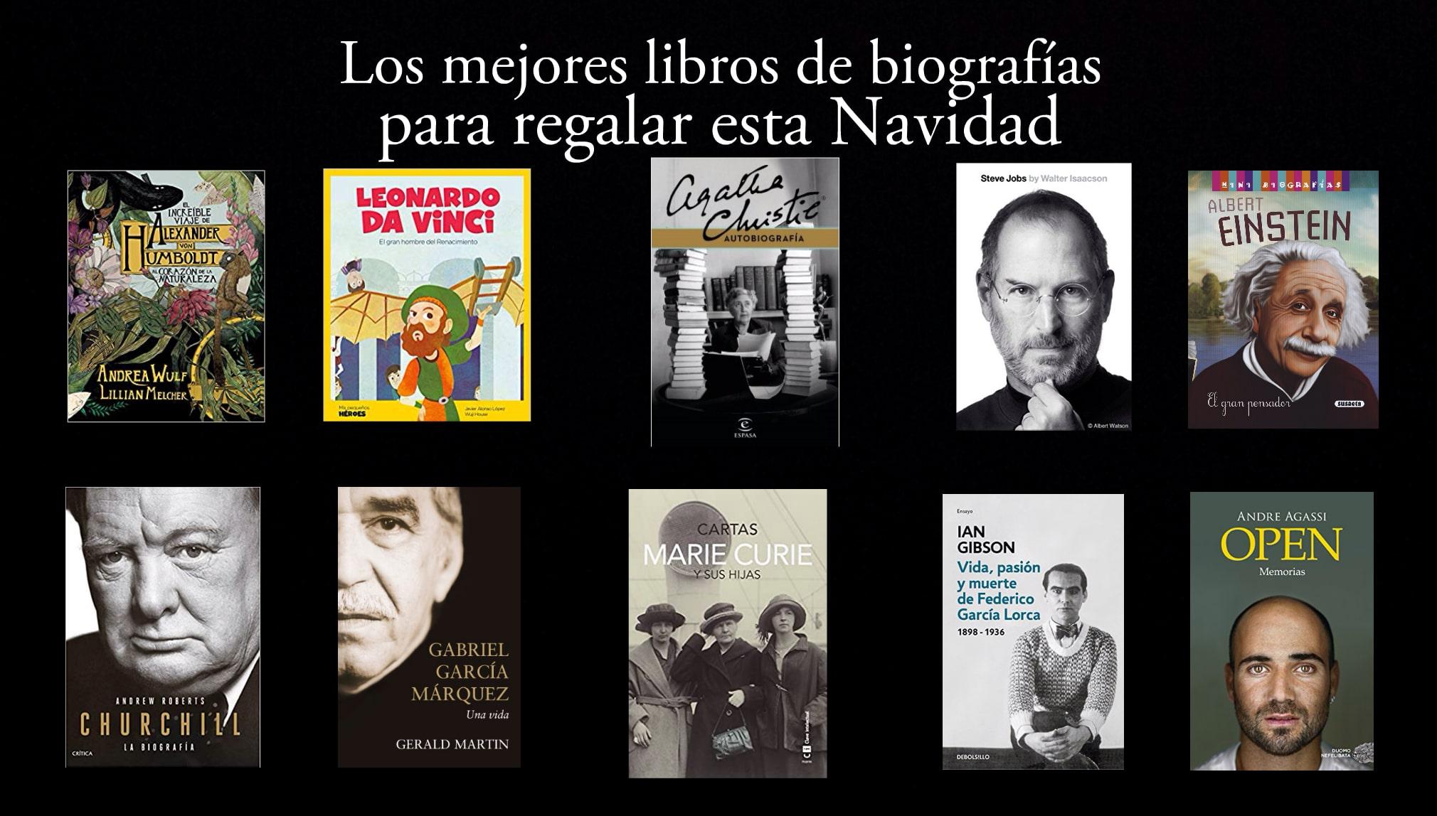 Los mejores libros de biografías para regalar en Navidad.