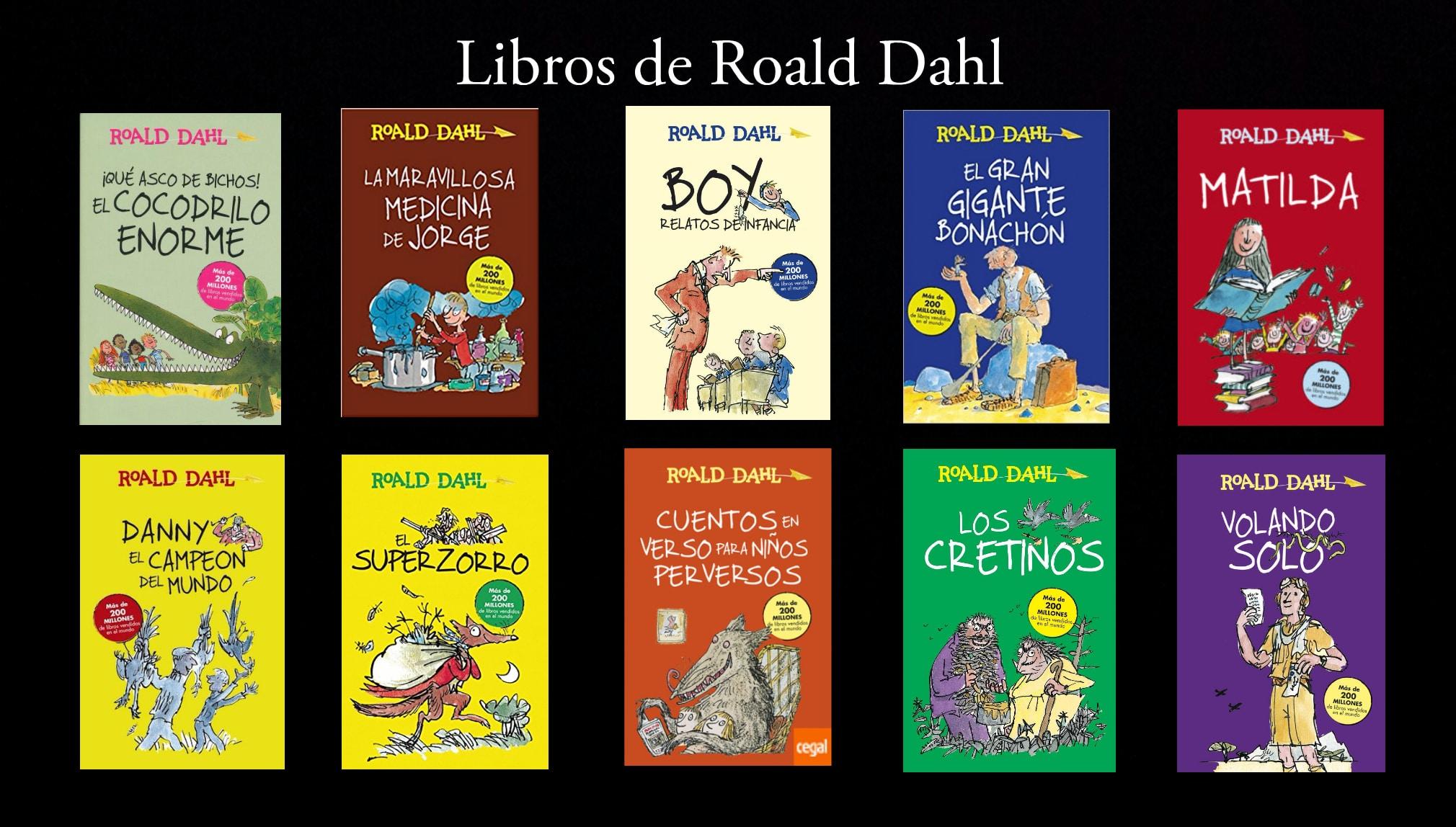 Libros de Roald Dahl.