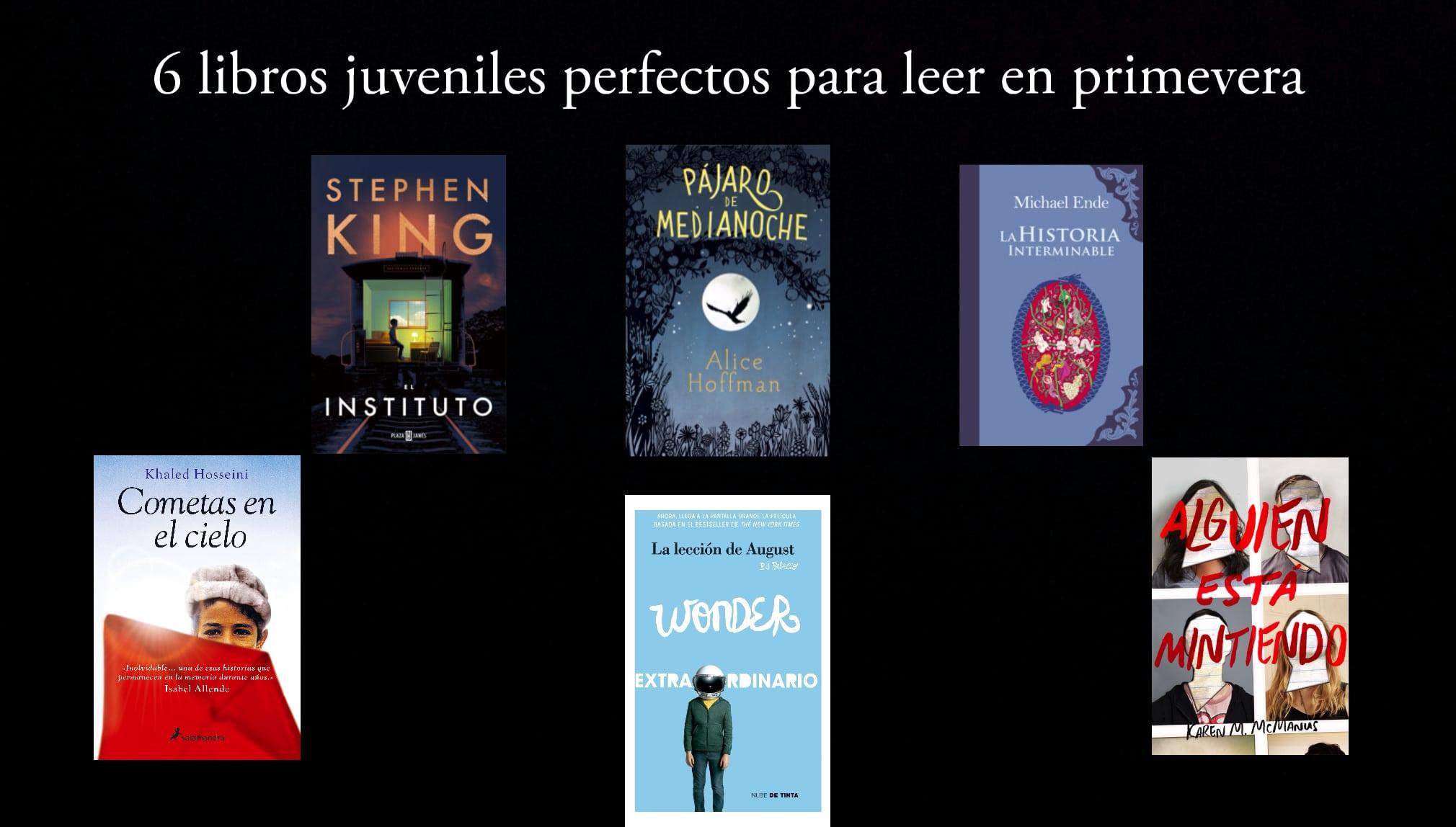 6 libros juveniles perfectos para leer en primavera.