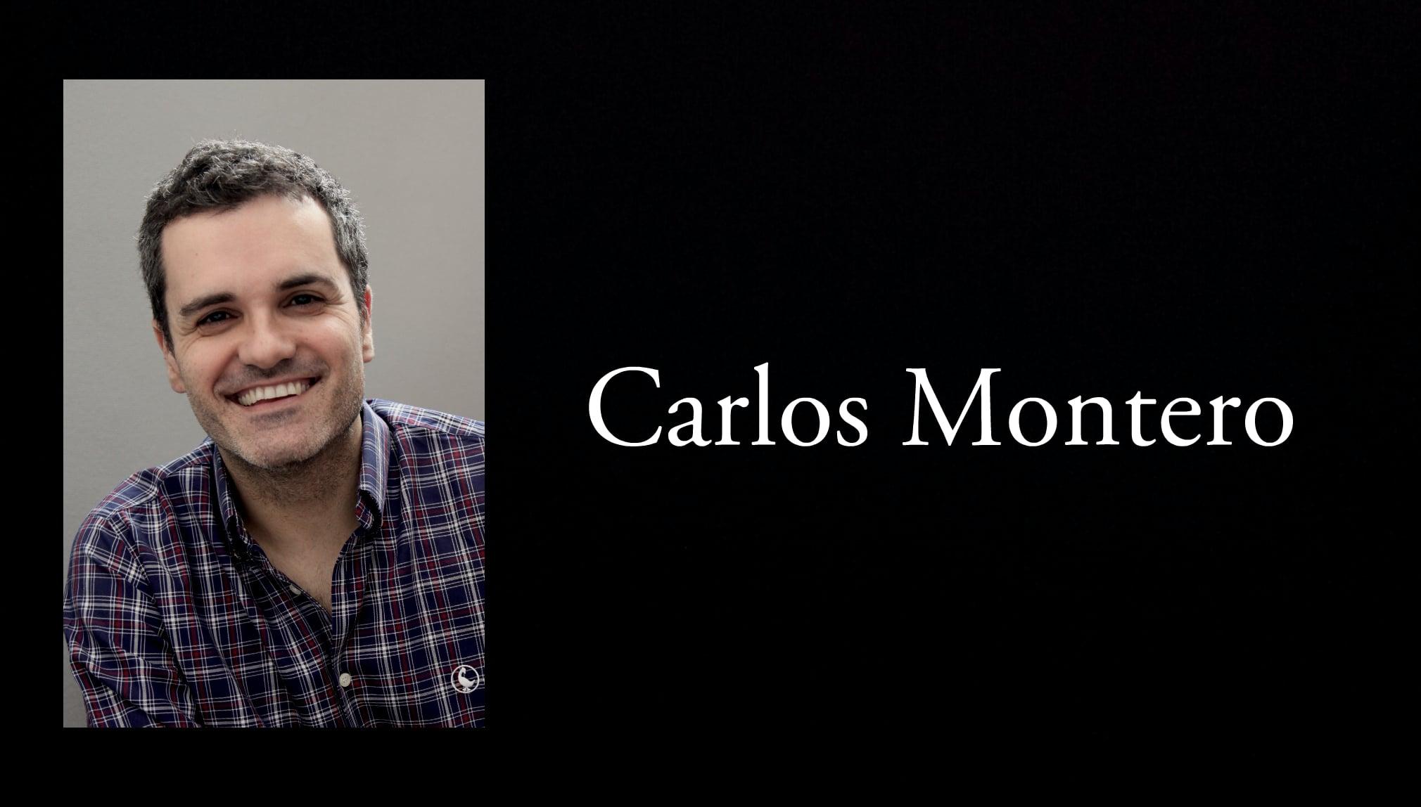 El escritor Carlos Montero.