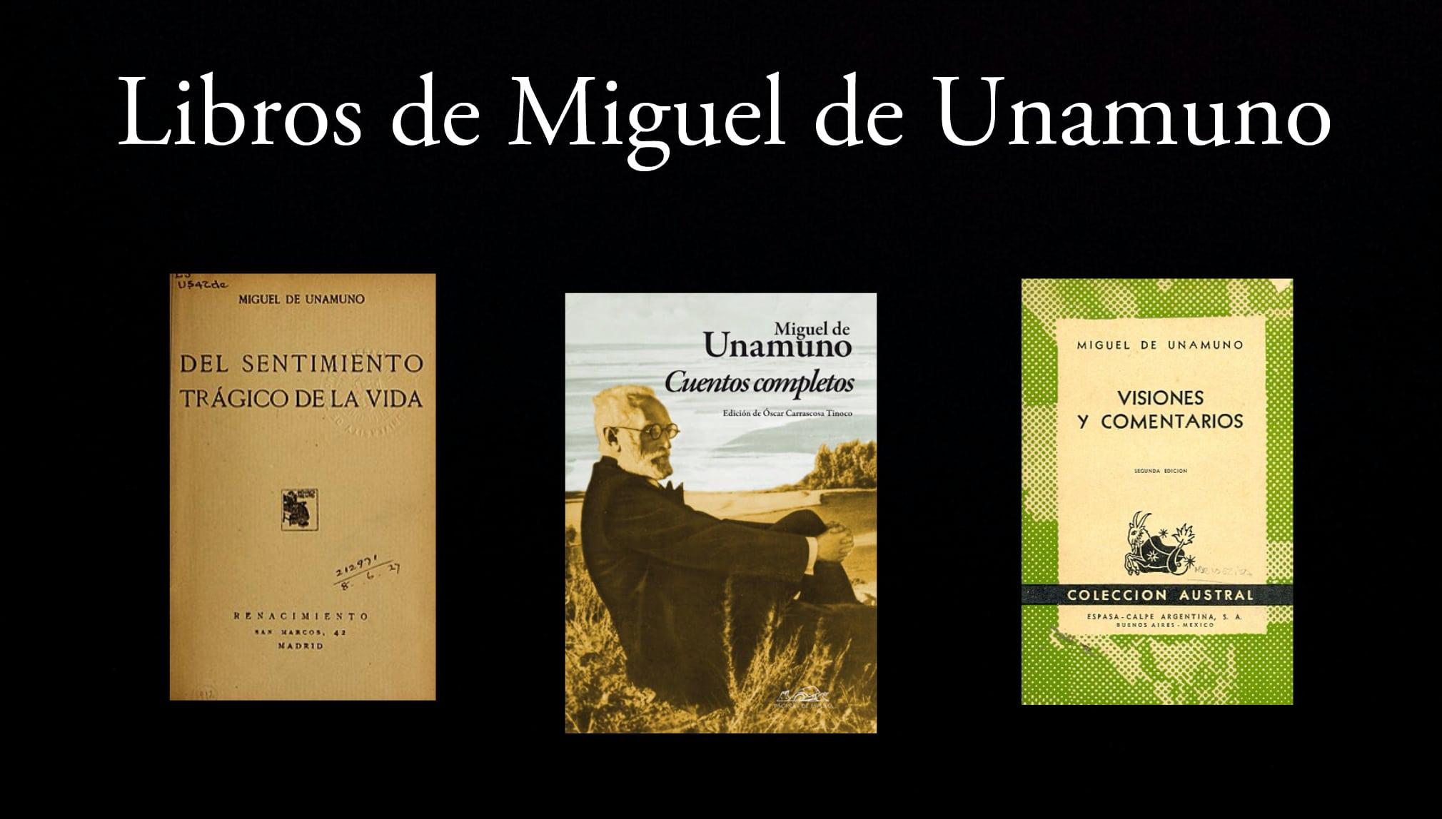 Libros de Miguel de Unamuno.