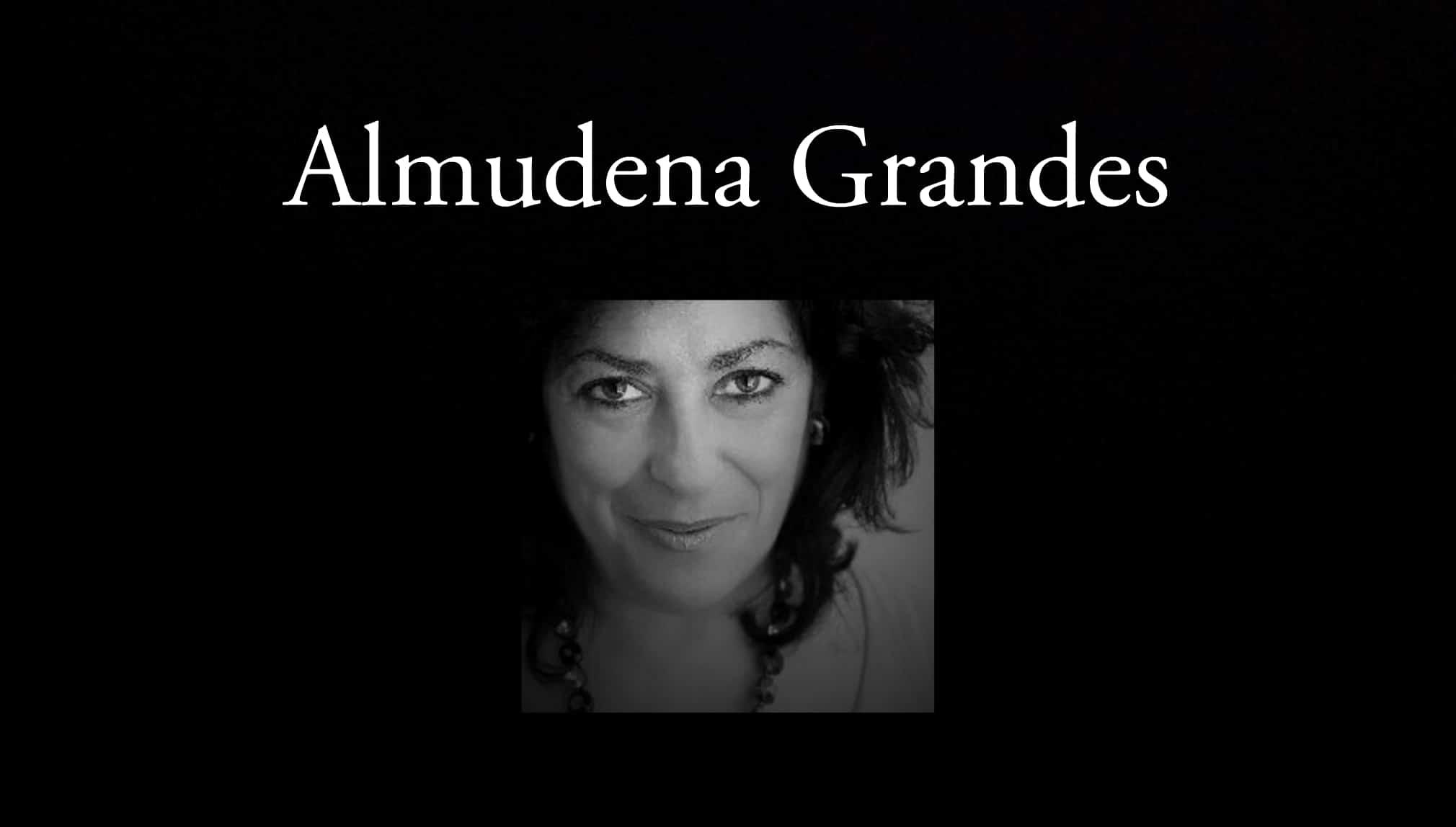 Almudena Grandes.