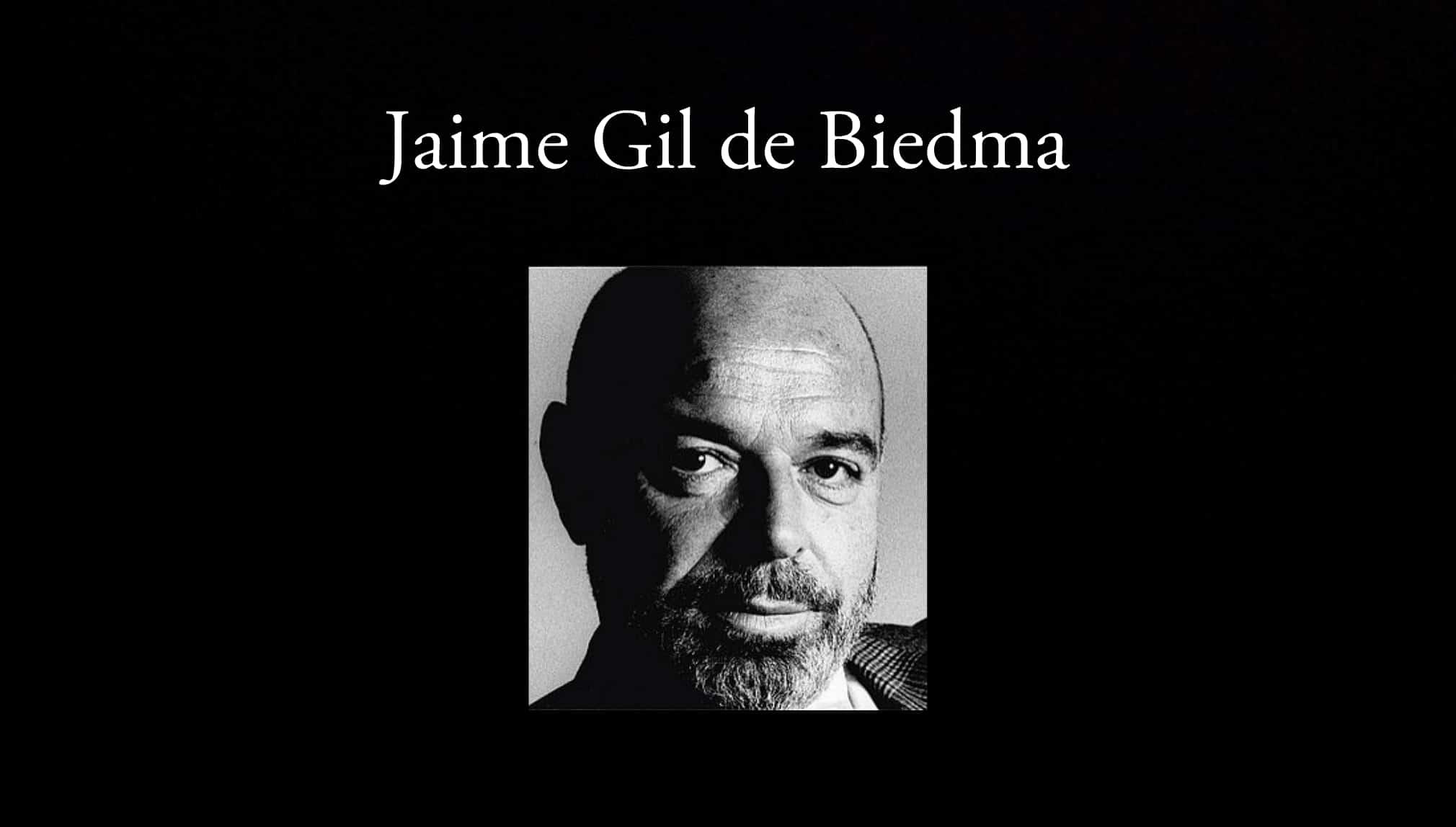 Jaime Gil de Biedma.