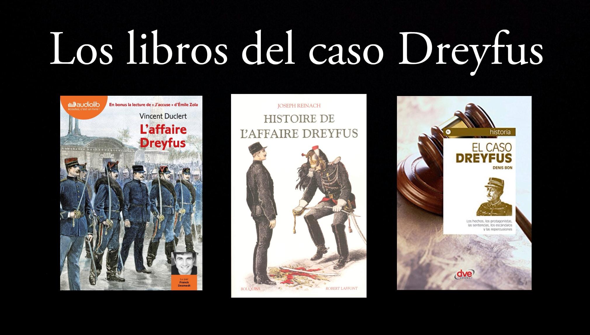 Los libros del caso Dreyfus.