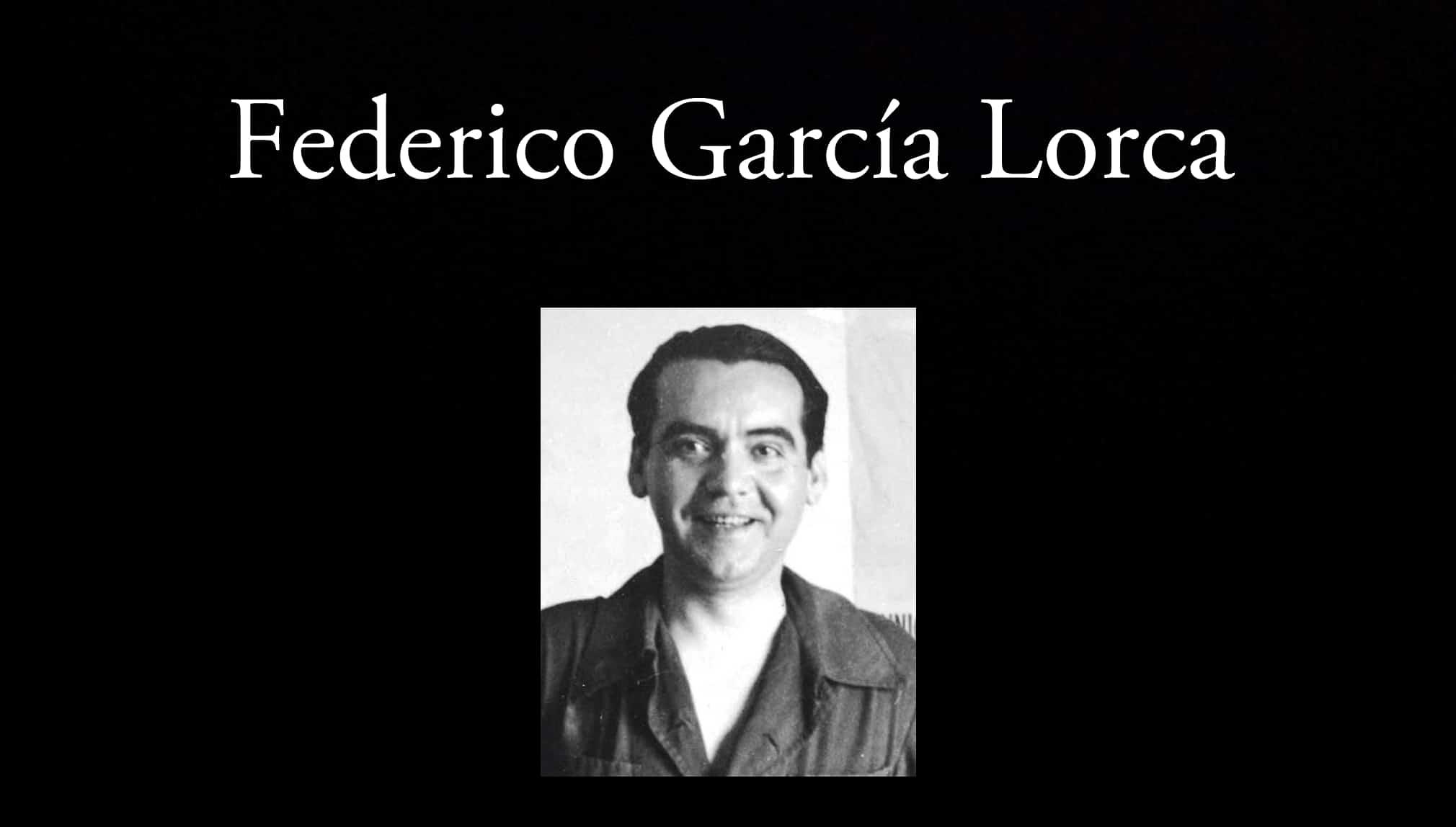 Federico García Lorca. Parte de los poetas de la antología.