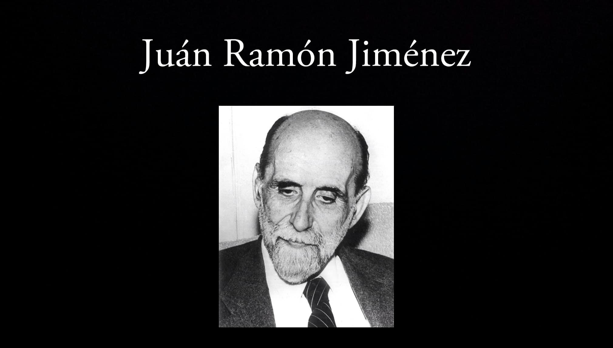 Juan Ramón Jiménez. Parte de los poetas de la antología.