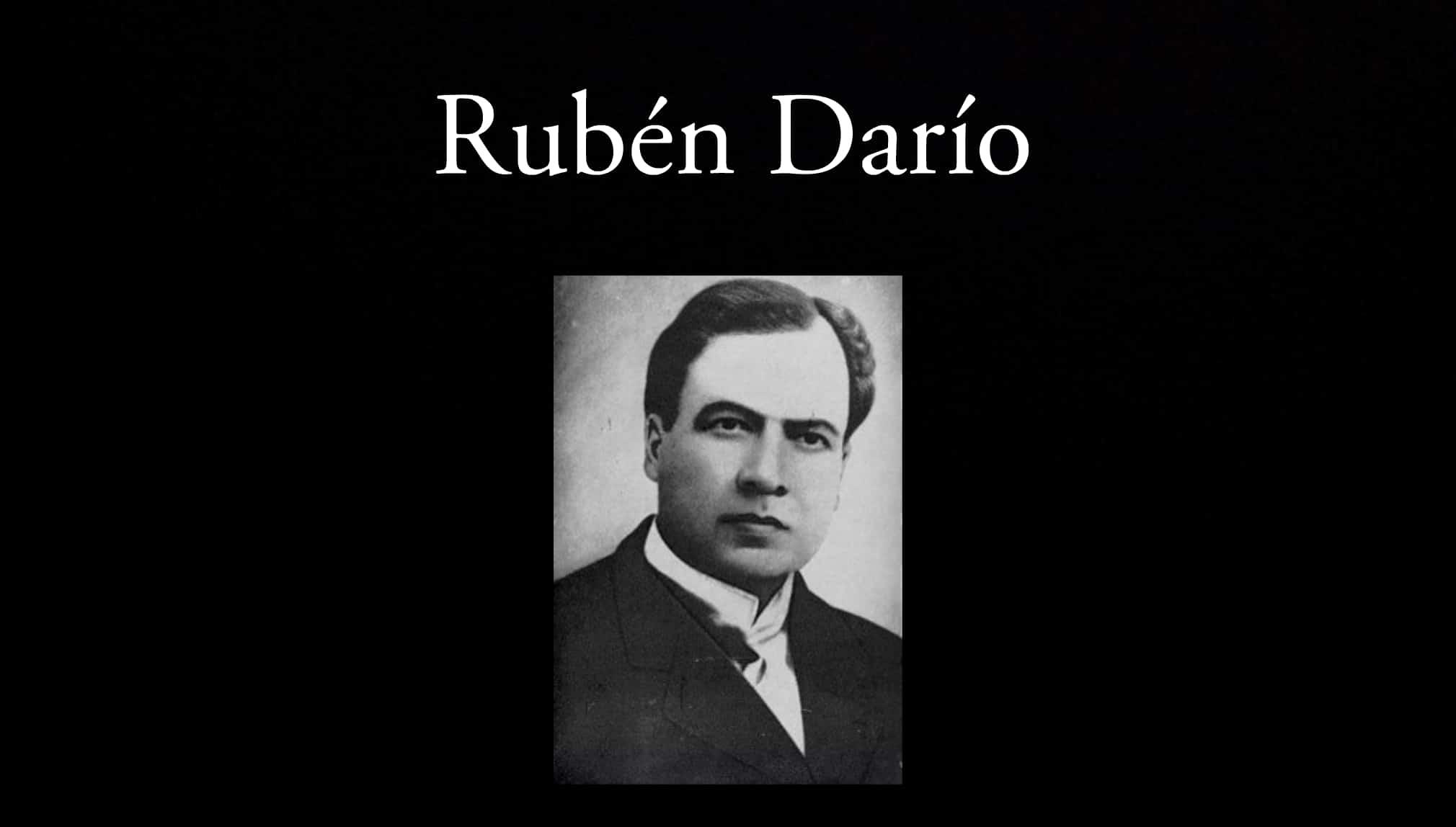 Rubén Darío. Parte de los poetas de la antología.