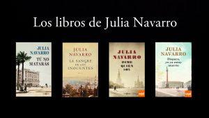 Los libros de Julia Navarro.