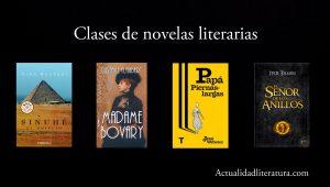 Clases de novelas literarias.