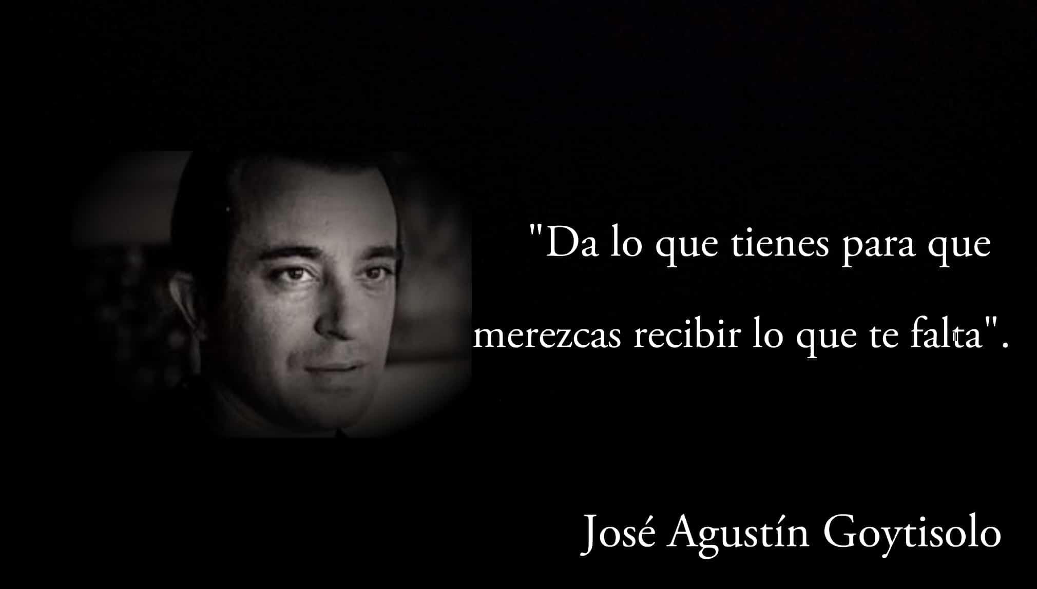 Frase de José Agustín Goytisolo.