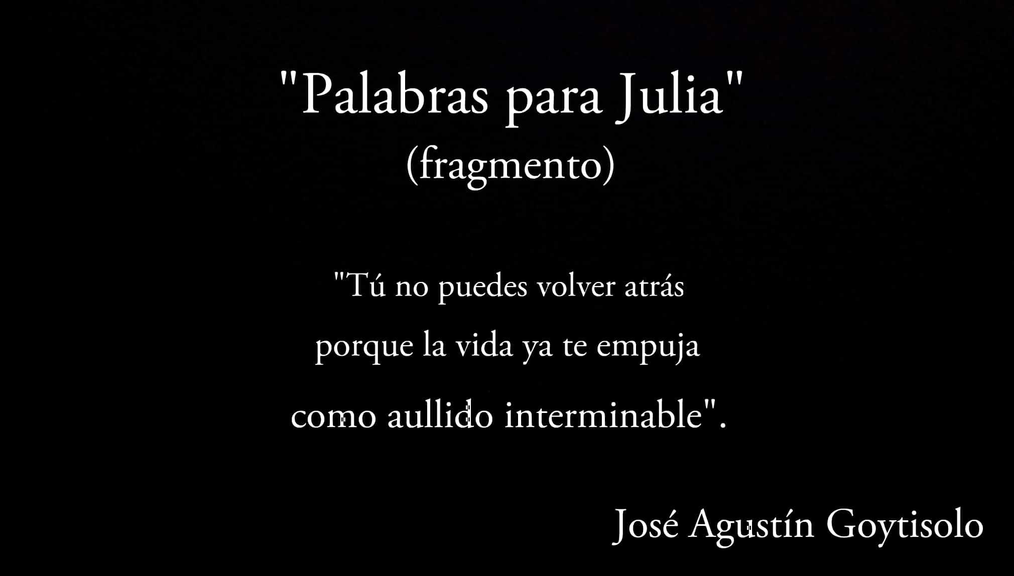 """""""Palabras para Julia"""", fragmento."""