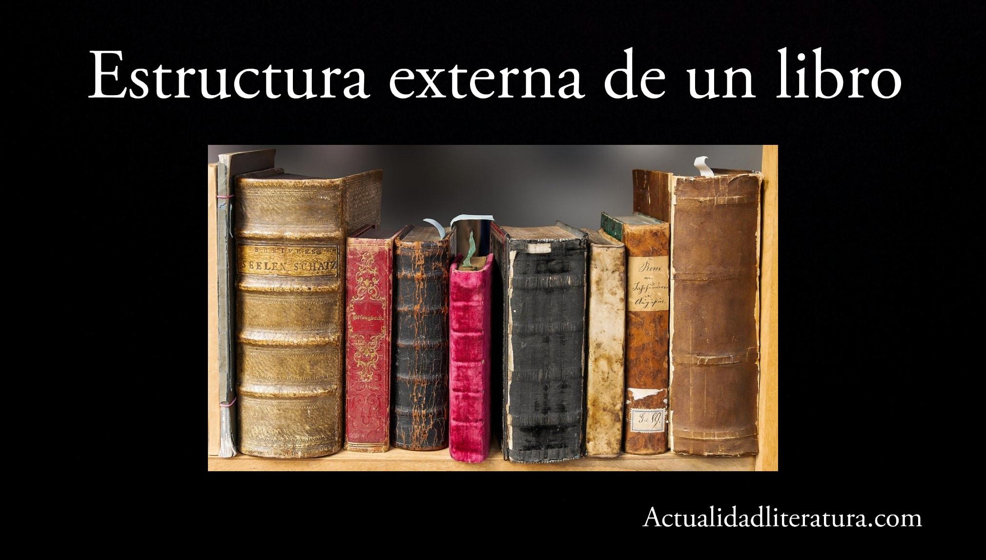 Estructura externa de un libro.