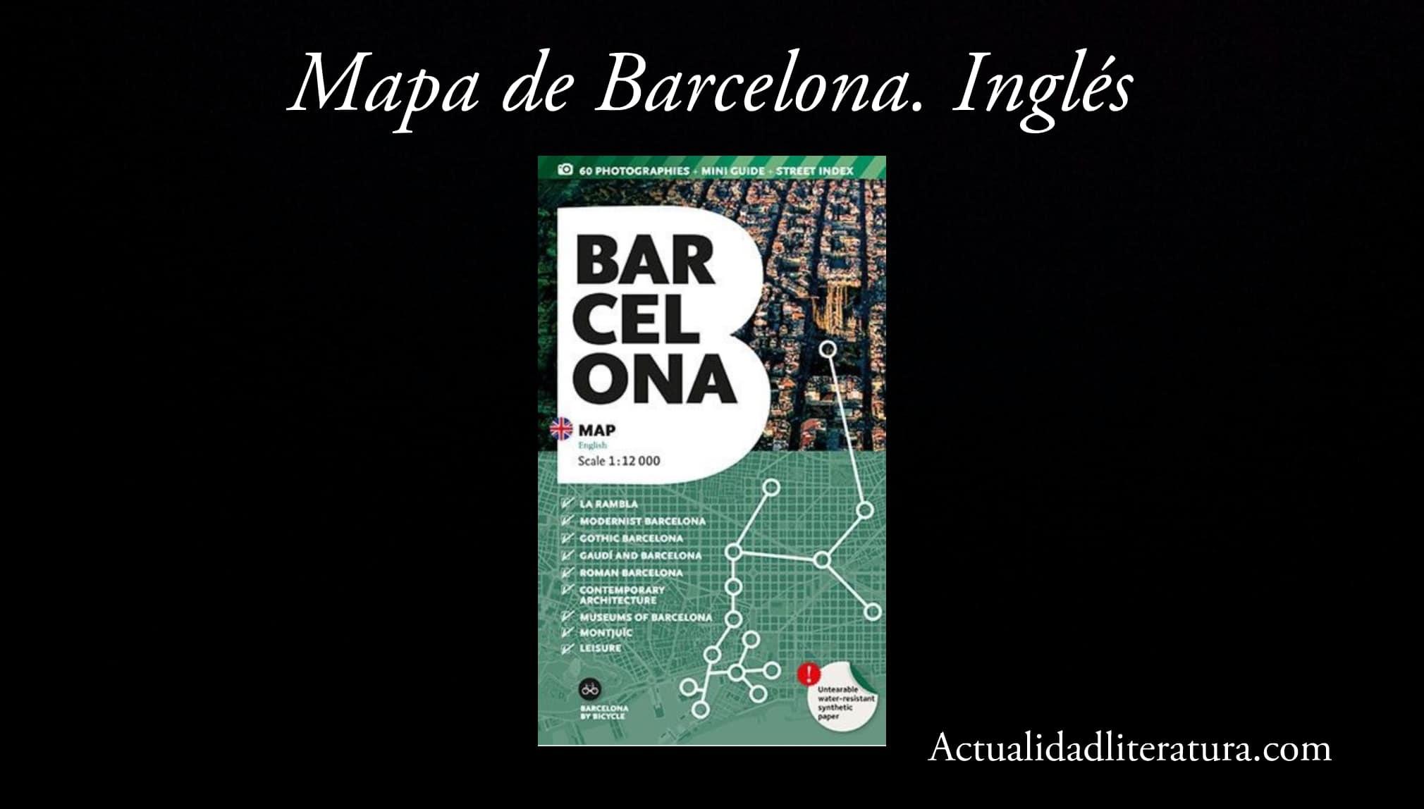 Mapa de Barcelona. Inglés.