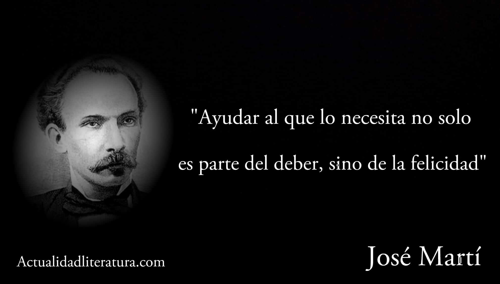 Frase de José Martí.