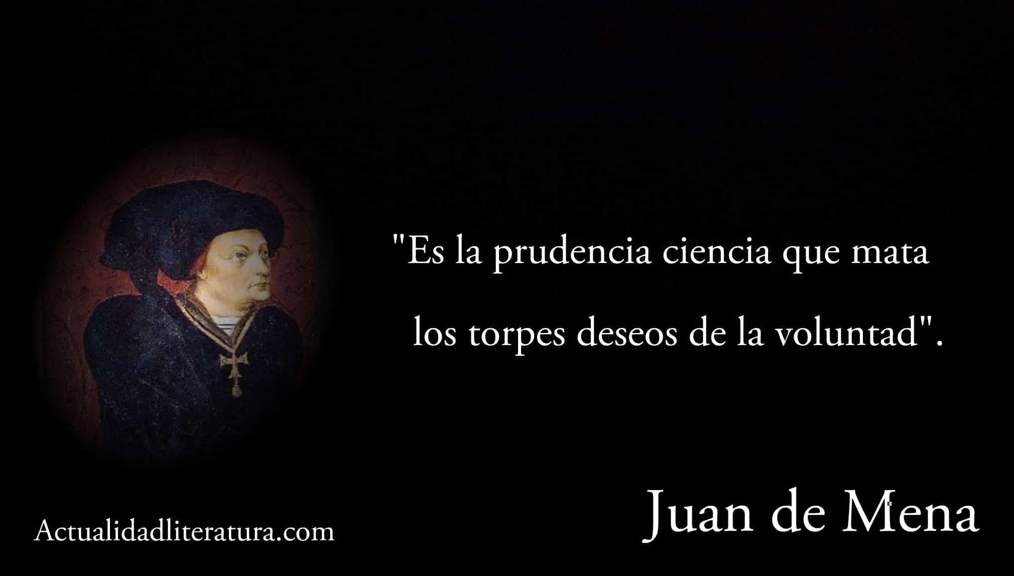 Frase de Juan de Mena.