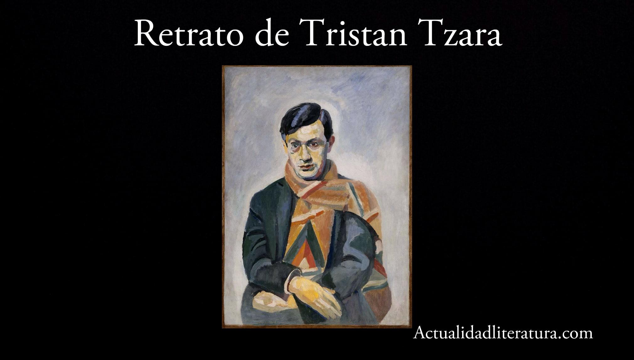 Retrato de Tristan Tzara.