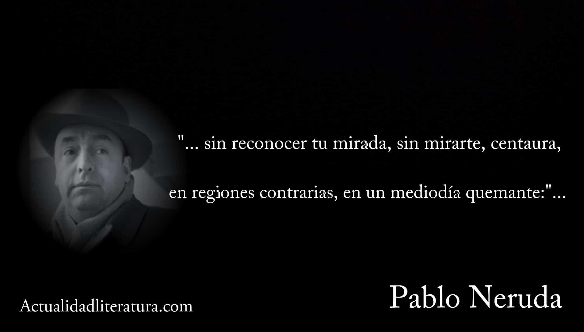 Metonimia en la poesía de Pablo Neruda.