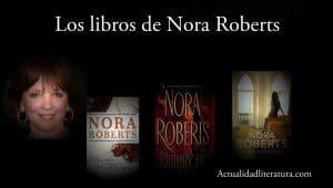 Los libros de Nora Roberts.