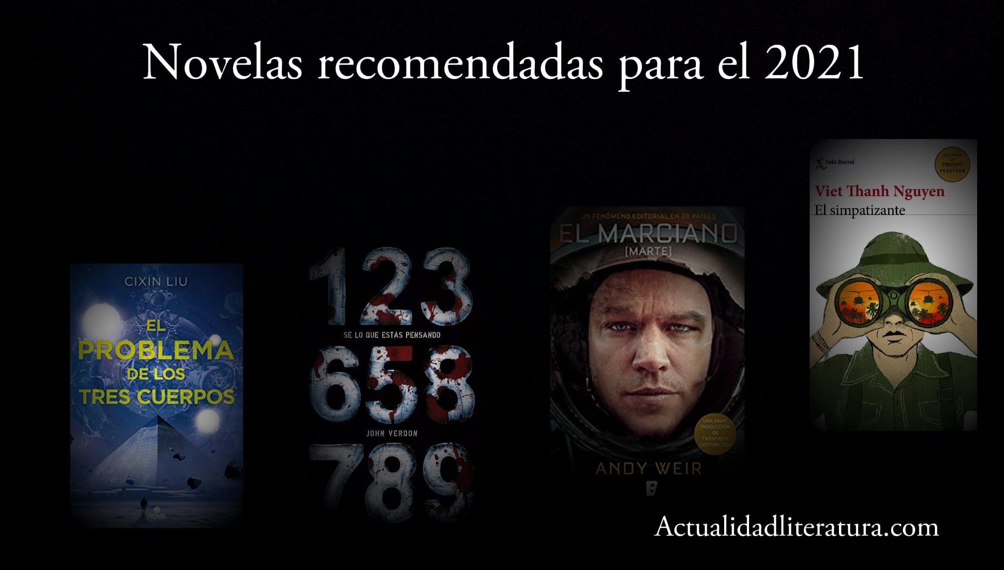 Novelas recomendadas para el 2021