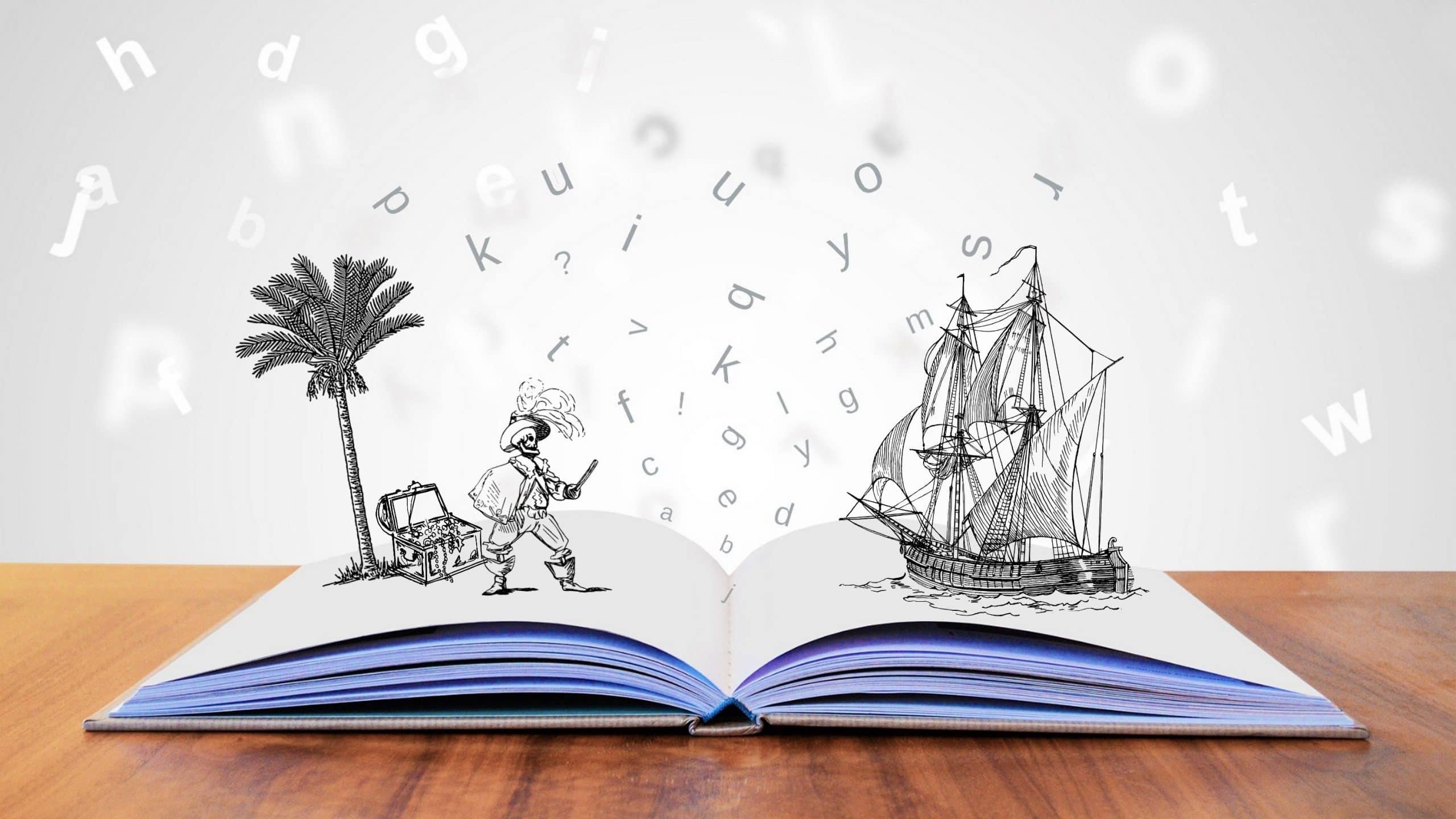 Libro juvenil con ilustraciones