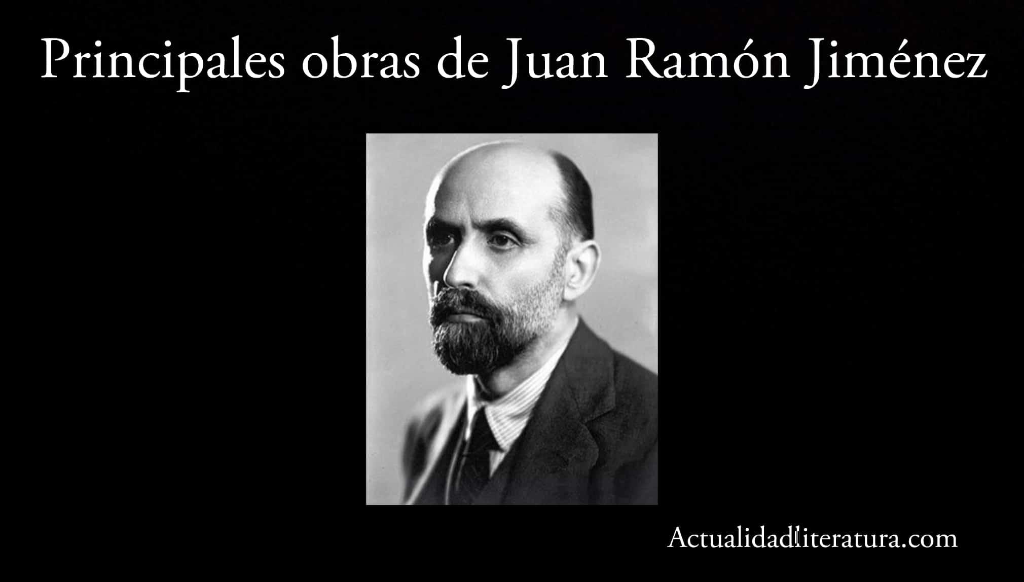 Principales obras de Juan Ramón Jiménez